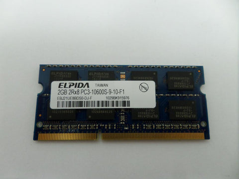 Elpida 2GB PC3-10600 DDR3-1333MHz 204-Pin SoDimm