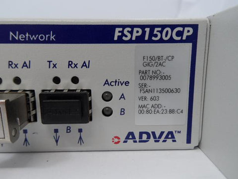 ADVA Gigabit Ethernet Optical Fibre Access Device (78993005 FSP150CP 603 USED)