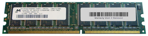 Micron Crucial 512MB PC3200 DDR-400MHz non-ECC Unbuffered CL3 184-Pin DIMM Memory Module (MT8VDDT6464AY-40BF4   CT6464Z40B.8TF)