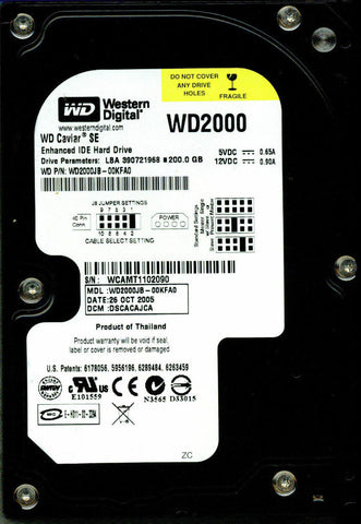 Western Digital 200Gb IDE 7200rpm 3.5in Hdd ( WD2000JB-00KFA0 Western Digital Ref)