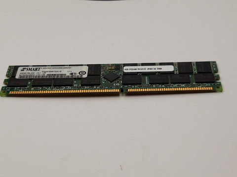 Smart 2GB PC3200 DDR-400MHz ECC CL3 184-Pin DIMM Dual Rank Memory (SG25672RDDR8H2BGSF REF)