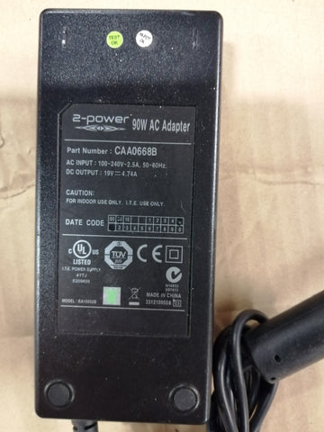 2 POWER 90W AC ADAPTER IN 240V 2.5A OUT 19V 4.74 ( CAA0668B USED )