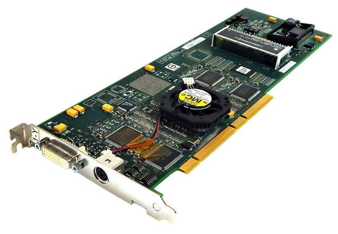 .IBM. DVI PCI Graphics Card  00P4474 with Fan Adapter (00P4476 09P6696 GXT4500P USED)