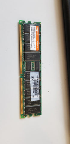 Hynix 256MB PC2100 DDR-266MHz ECC Registered CL2.5 184-Pin DIMM Low Profile Memory Module (HYMD132G725E4M-H)