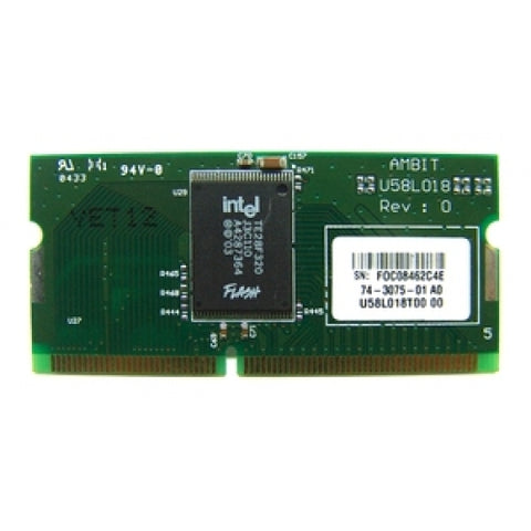 Cisco 74-3075-01 4MB Flash Memory Module For 800 Series Router's (USED U58L018T00 74-3075-01)