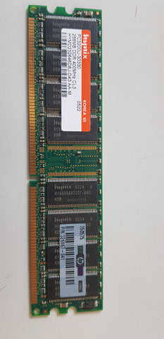 Hynix / HP 256MB PC3200 DDR-400MHz non-ECC Unbuffered CL3 184-Pin DIMM Memory Module (HYMD232646D8J-D43 / 326667-041)