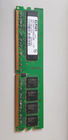 Elpida 2GB 2Rx8 PC2-6400U DDR2-800MHz non-ECC Unbuffered CL6 240-Pin DIMM Dual Rank Memory Module(EBE21UE8ACWA-8G-E)