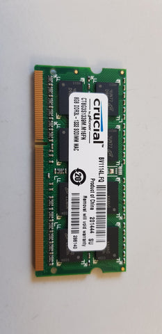 Crucial 8GB PC3-10600 DDR3-1333MHz non-ECC Unbuffered CL9 204-Pin SoDimm 1.35V Low Voltage Memory Module for Apple (CT8G3S1339M.M16FN)