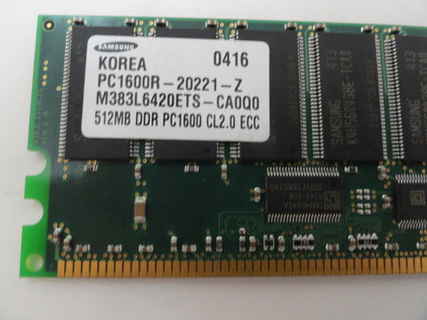 Samsung HP 512Mb DDR PC1600 CL2 ECC RAM Module