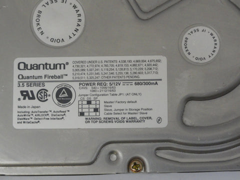 "Quantum 1GB SCSI 50 pin 5400rpm 3.5"" HDD"