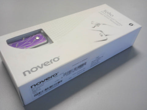 Novero Soho Crystal Bluetooth Headphones - Violet