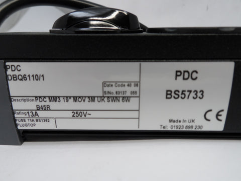 PDC DBQ6110/1 6 Way Mains Power Extension Block