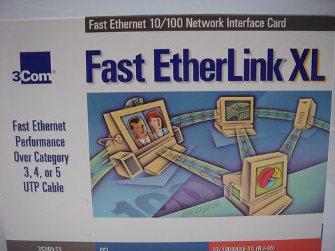 3Com, Fast EtherLink XL 10/100Base -T4 (RJ-45) Ope