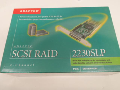 Adaptec 2-Channel SCSI Raid Card