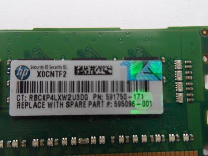 HP/Samsung 4GB PC3-10600 DDR3-1333MHz 240-Pin DIMM