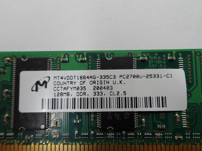HP/Micron 128MB PC2700 DDR-333MHz 184-Pin DIMM
