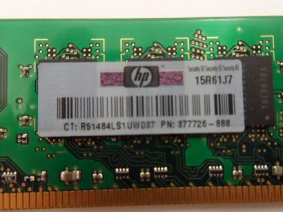 HP/Samsung 1GB PC2-5300 DDR2-667MHz 240-Pin DIMM