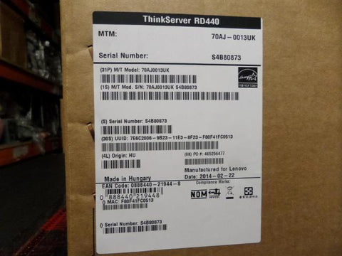 Lenovo Thinkserver RD440 E5 2450 v2 2.5Ghz 8Gb RAM