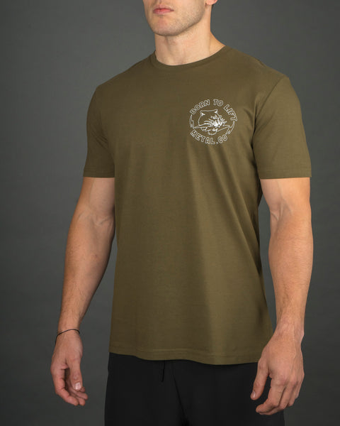 Born To Lift Men's Tee [Army Green]