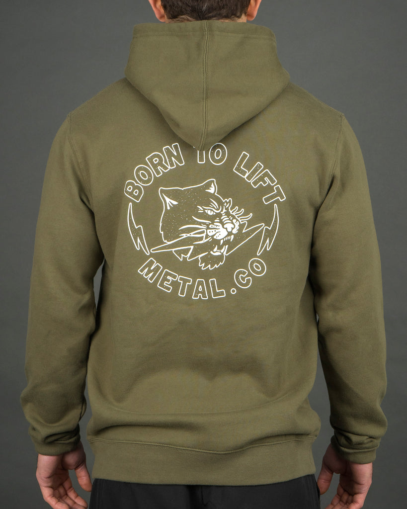 Born To Lift Hood [Army Green]