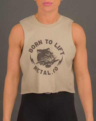 'Born To Lift' Tank [Sand]