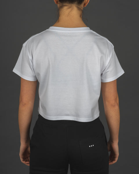 Burpees Bye - Cropped Tee [White]
