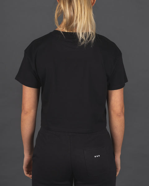 Burpees Bye - Cropped Tee [Black]