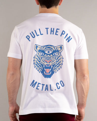 Pull The Pin - Graphic Tee [White].