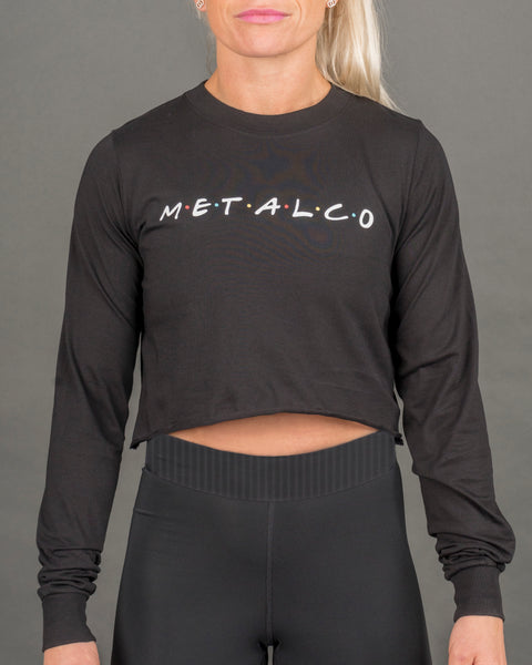 Friends Long Sleeve Crop Tee [Black]
