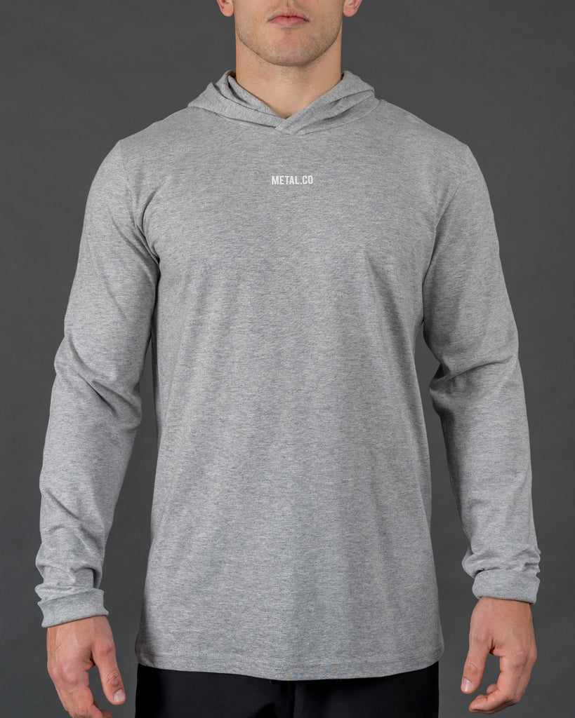 'Core Series' Long Sleeve Hood [Grey]