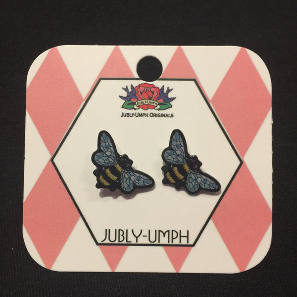 Jubly-Umph Crystal Queen Bee Stud Earrings