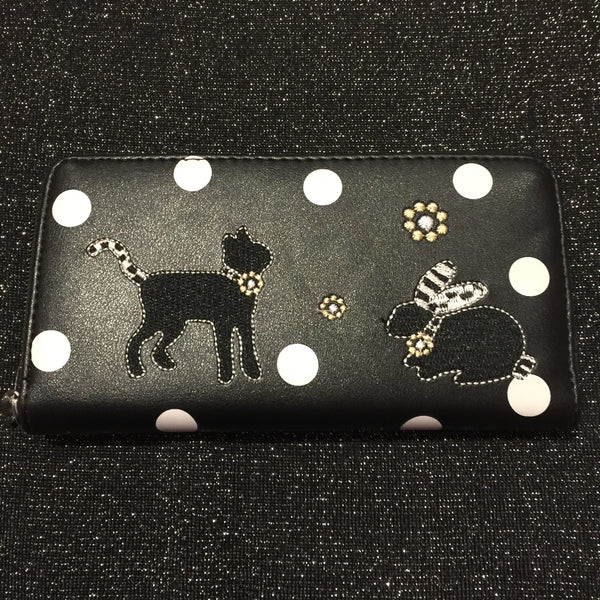 Black Kitten & Bunny Purse