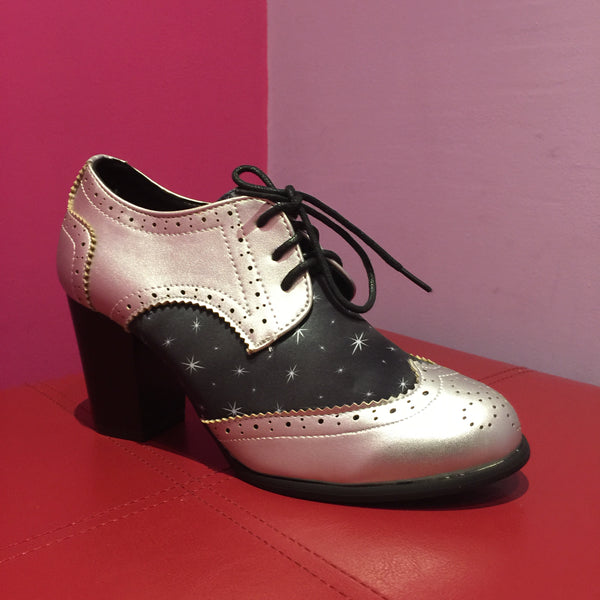 Lindy Bop 'Brogan' Star Print Brogues