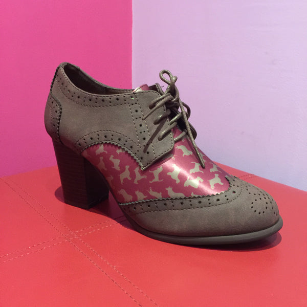 Lindy Bop 'Brogan' Dog Print Brogues