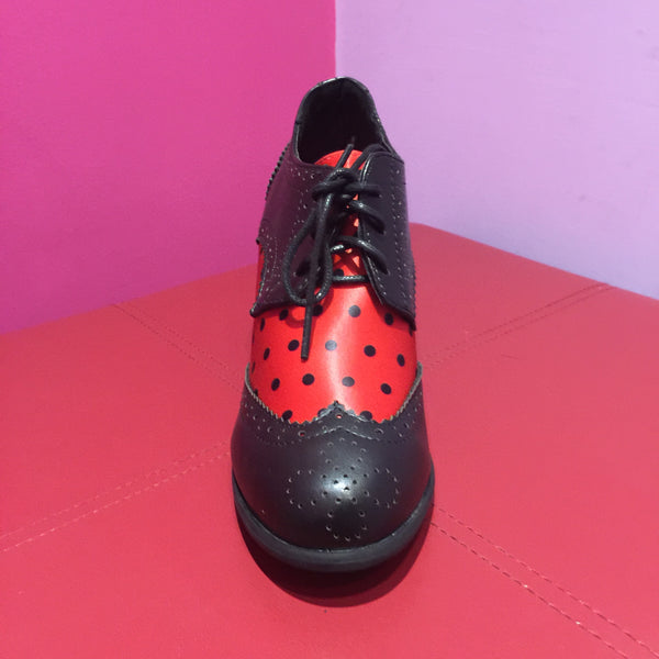 Lindy Bop 'Brogan' Red Polka Dot Brogues