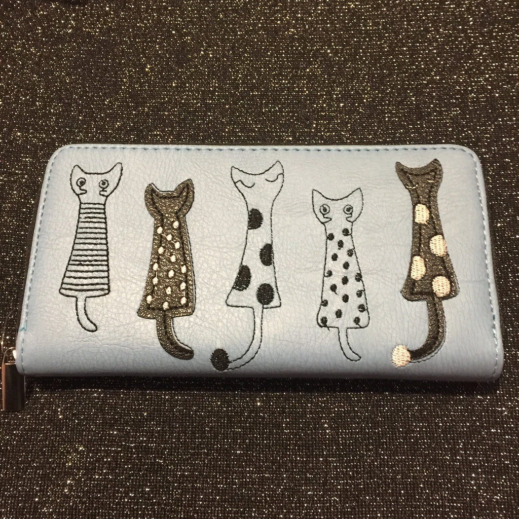 Blue Cat Purse