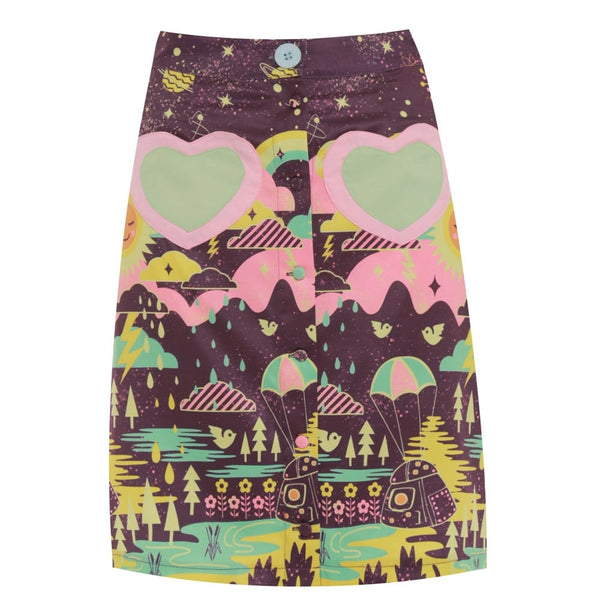 Lindy Bop Purple Invasion Skirt