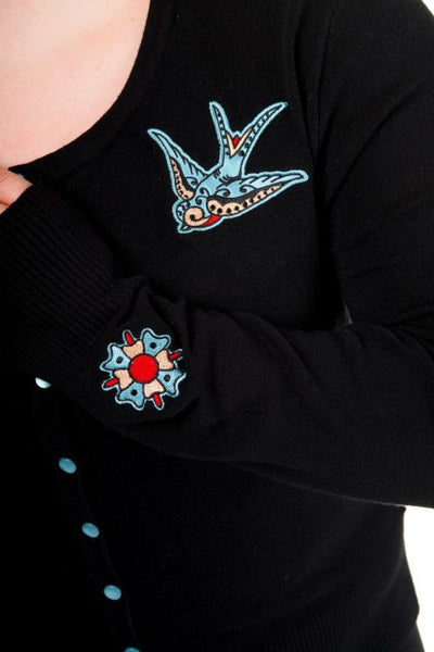 Banned Blue Swallow Cardigan