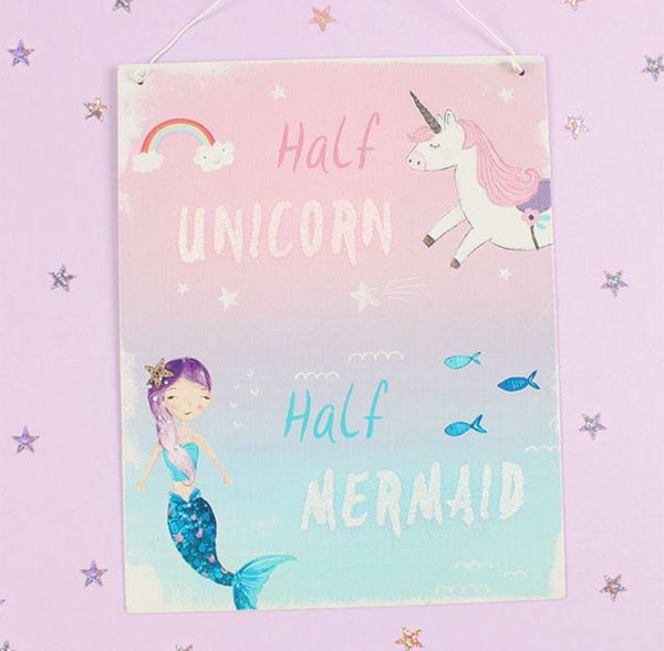 Half Mermaid, Half Unicorn Sign