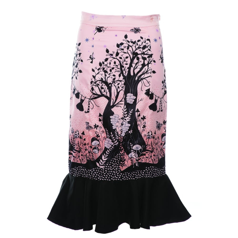 Lindy Bop 'Marsha' Fairytale Castle Fishtail Wiggle Skirt