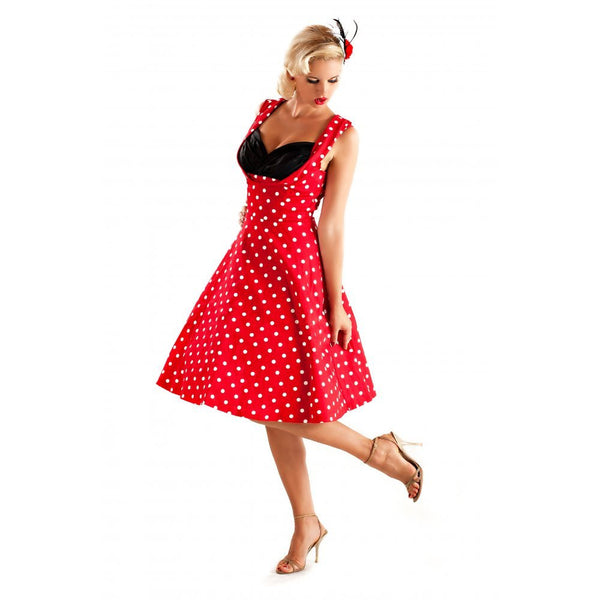 Lindy Bop Ophelia Red Polka Dot Party Dress