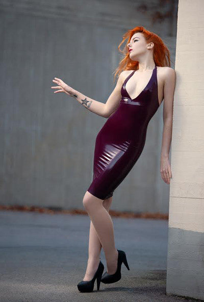Deep V Pencil Dress