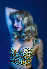 Bettie Leopard Long Line Bra