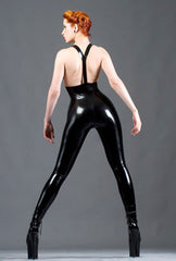 Longline Leggings With Braces And Crotch Zipper