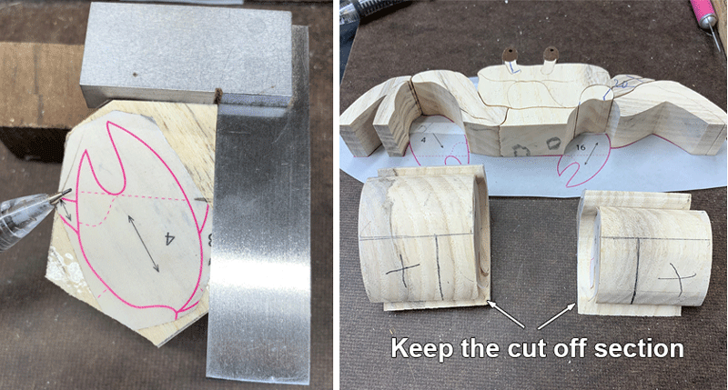 Tips on cutting the Intarsia Claw