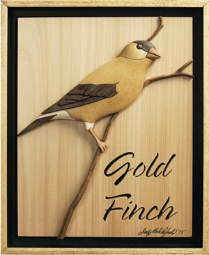 I-350 Gold Finch Intarsia Pattern