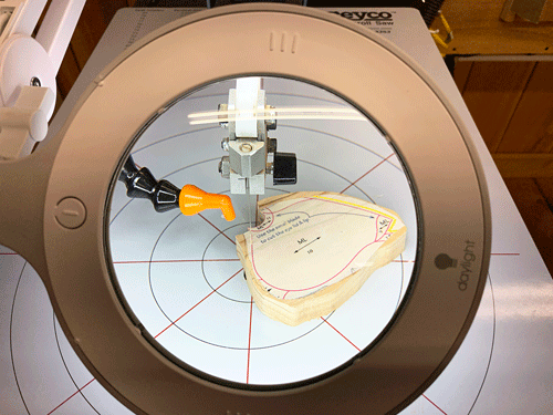 View through the magnifier