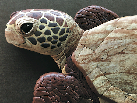 JGR Intarsia Sea Turtle Wood Inlay