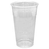 Karat - 24oz  Clear PET Cups - C-KC24U - Case of 600 - Charlie Bean