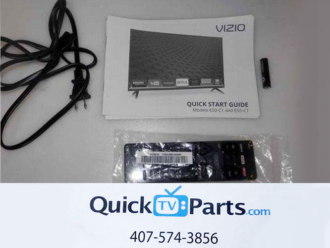Vizio E50-C1 E55C-1 TV Remote Manual Adaptor BRAND NEW